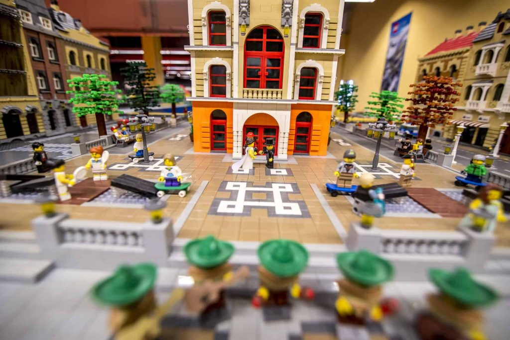 LEGO church wedding